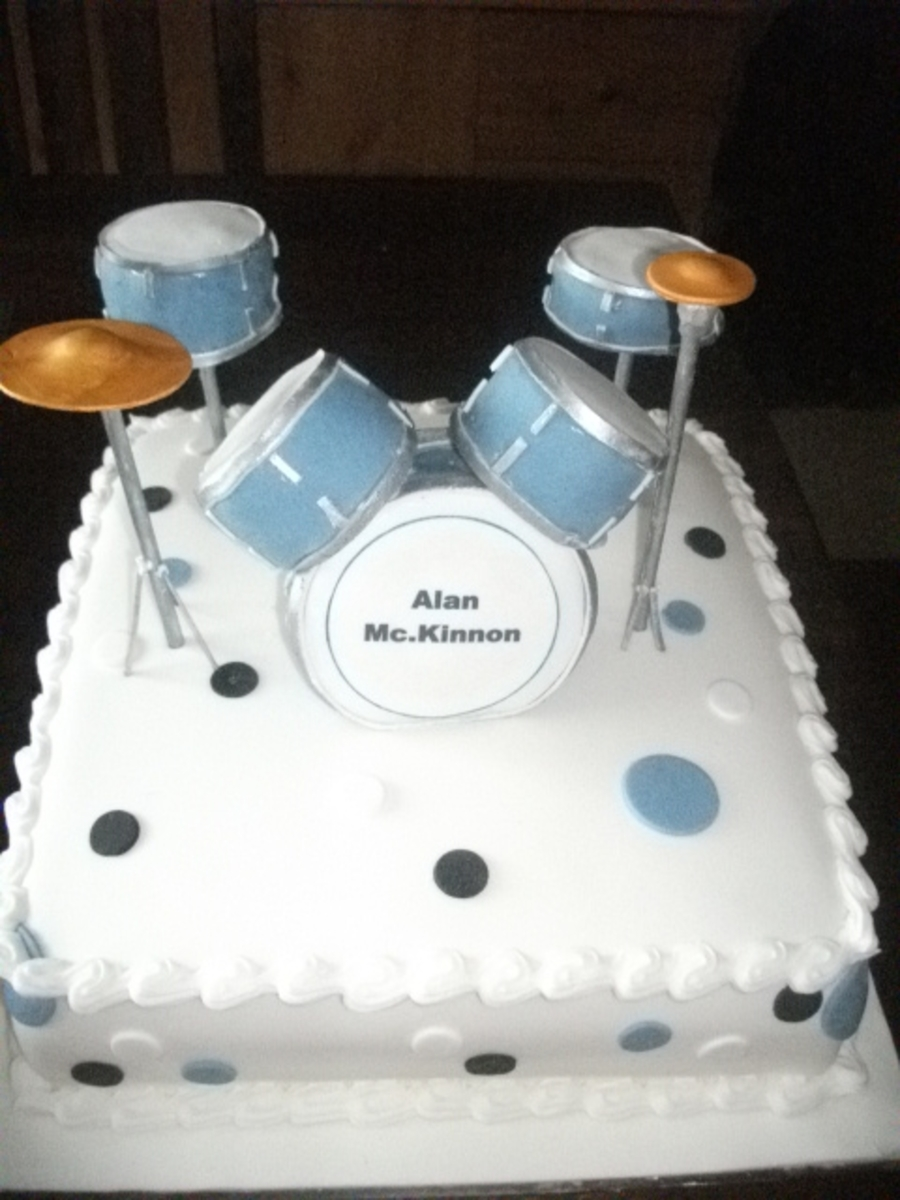 Drum Kit Cake - CakeCentral.com