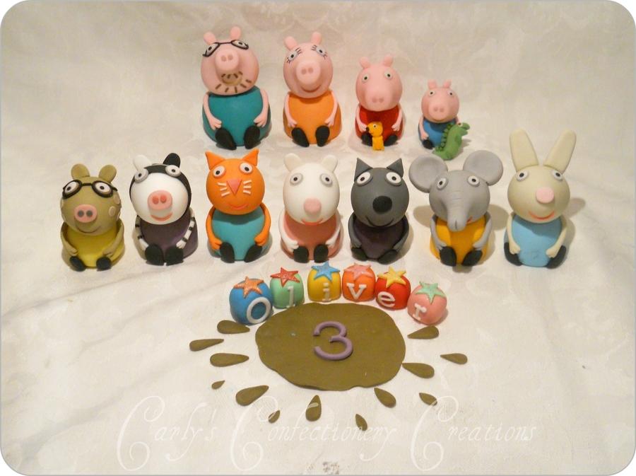 Peppa Pig Edible Image Cake Topper