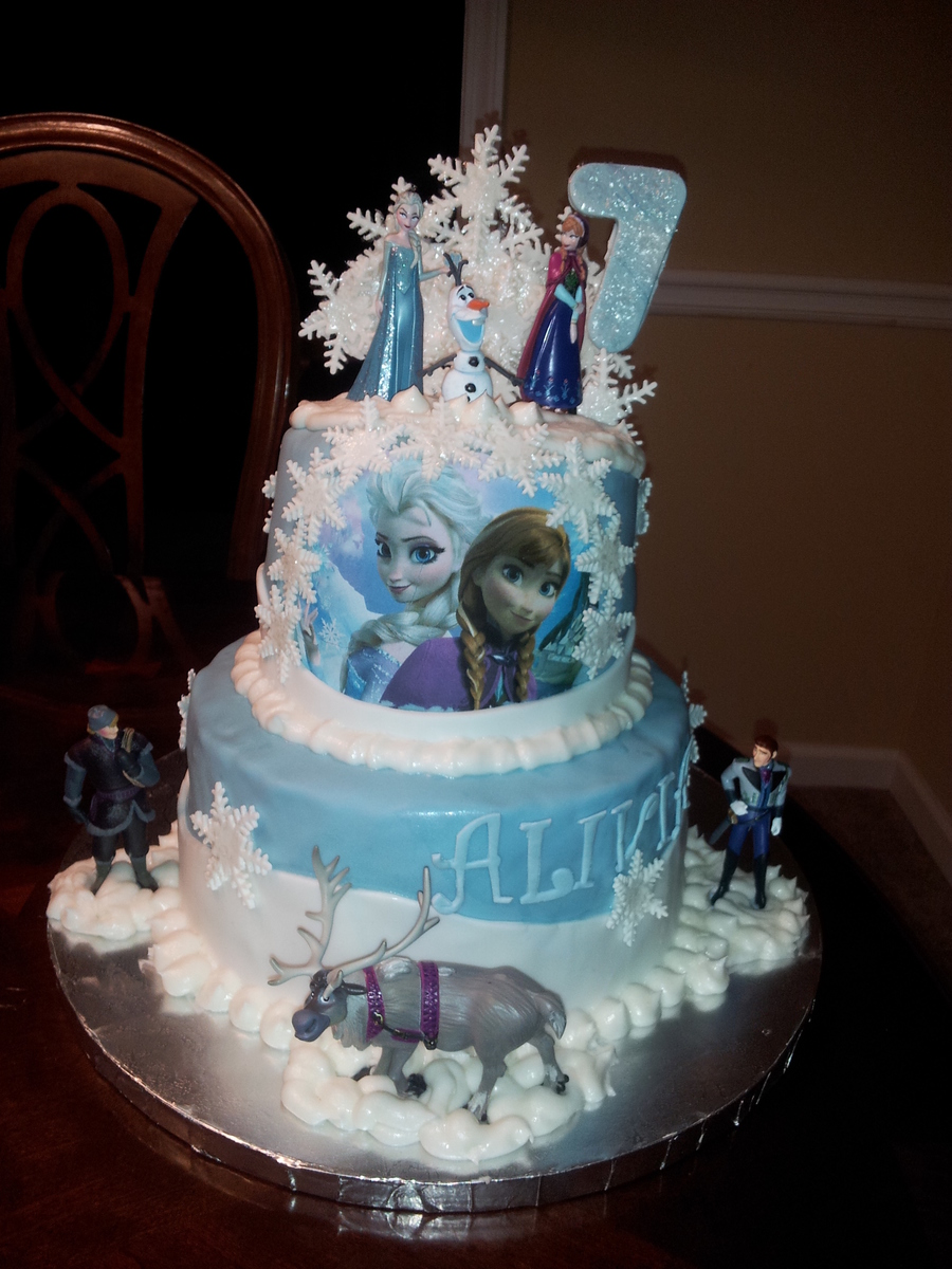 Cake Design For 7th Birthday Girl : Frozen 7Th Birthday Cake - CakeCentral.com