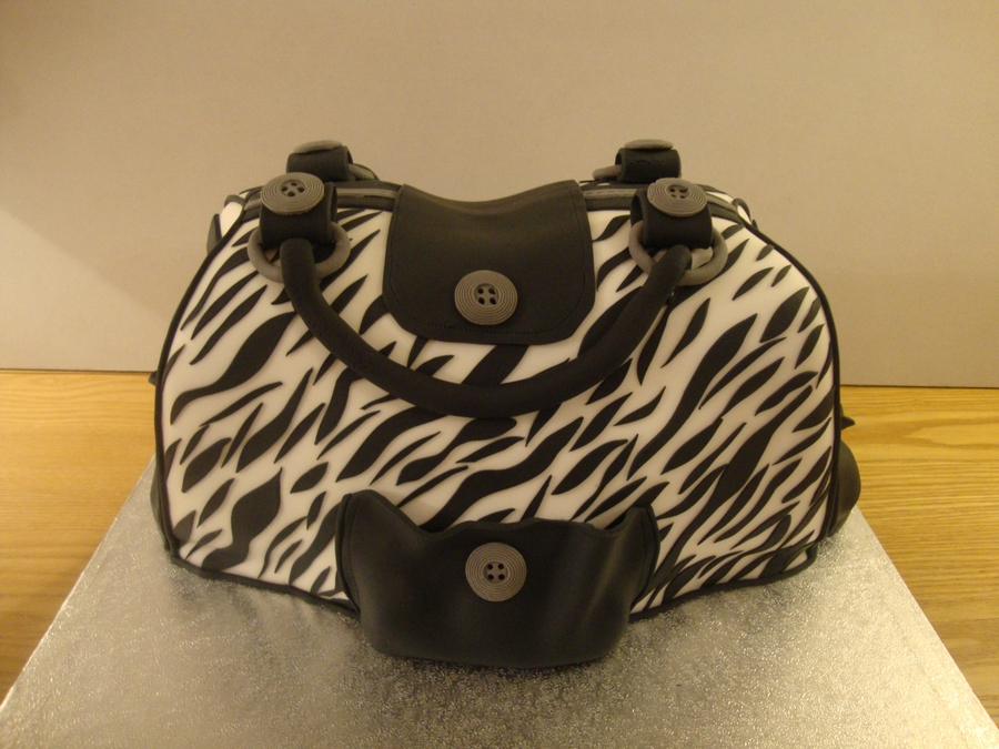 Zebra Print Bag Cake on Cake Central