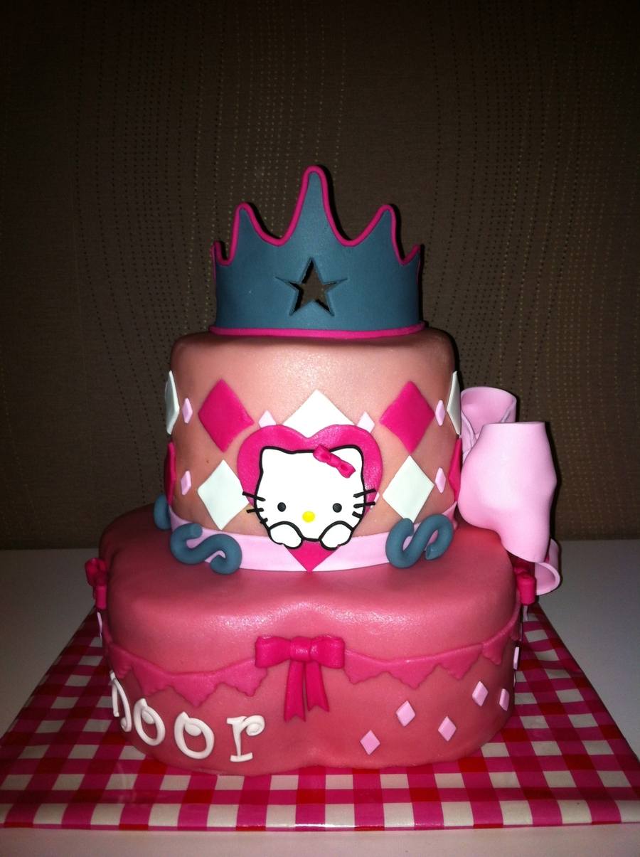 Fantastic Girlie Cake For The 4Th Birthday Of A Sweet Little Girl Funny Birthday Cards Online Inifofree Goldxyz
