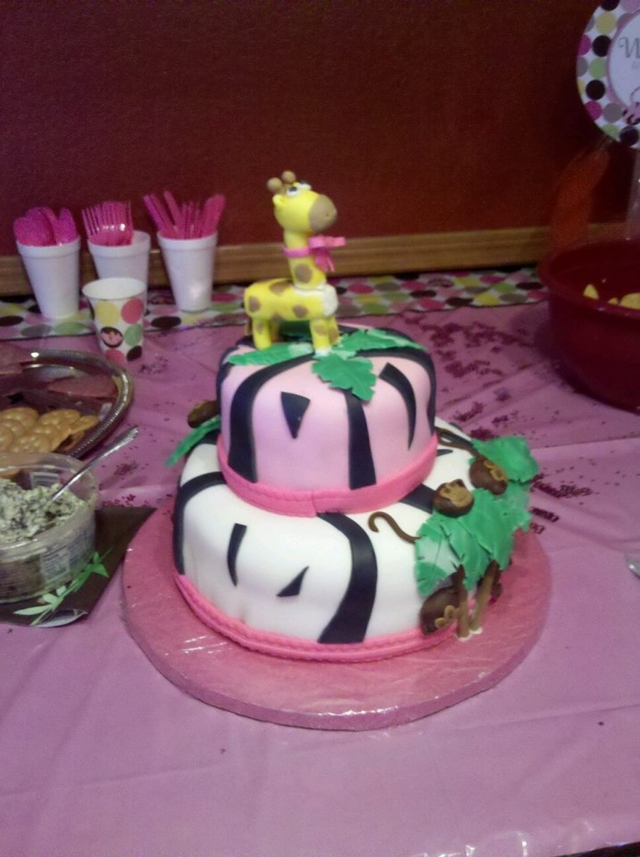 Girl Jungle Theme on Cake Central