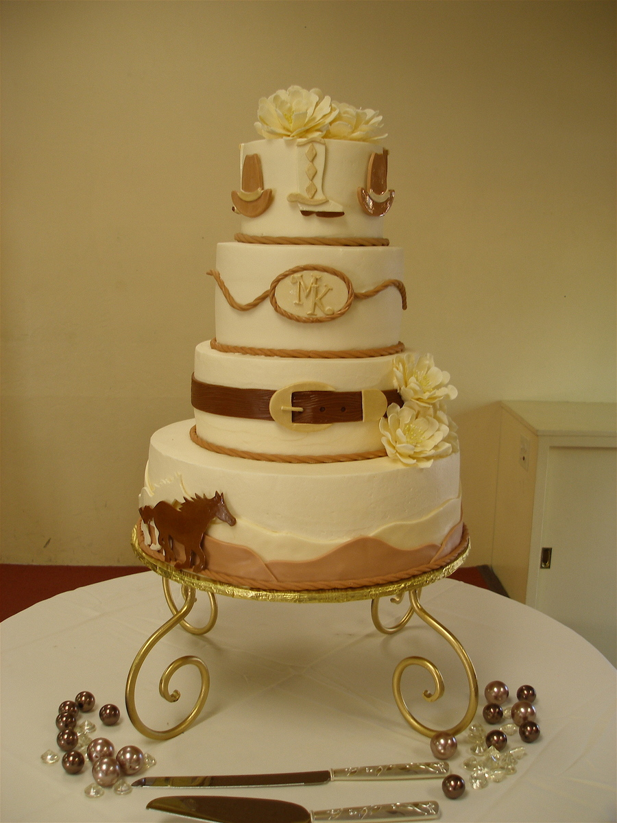 western theme wedding cake. Black Bedroom Furniture Sets. Home Design Ideas