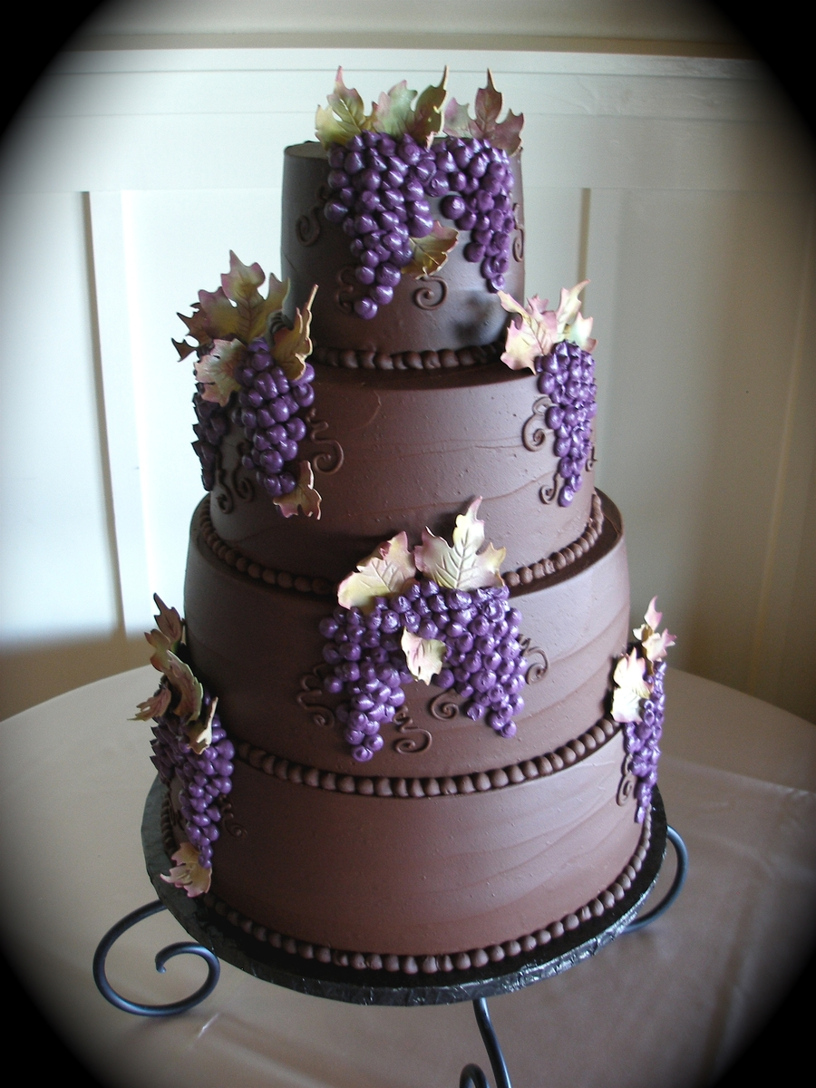 chocolate ganache wedding cakes pictures chocolate ganache wedding cake cakecentral 12717