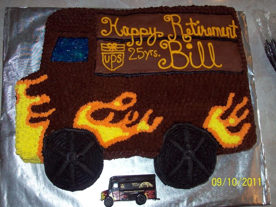 Ups Retirement Cake Cakecentral Com