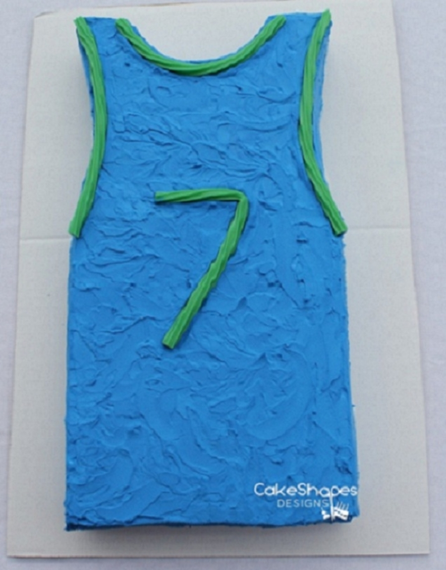 Basketball Jersey Cake By Cakeshapesdesigns on Cake Central