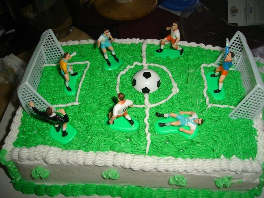 Tremendous Soccer Field Cake Cakecentral Com Funny Birthday Cards Online Aboleapandamsfinfo