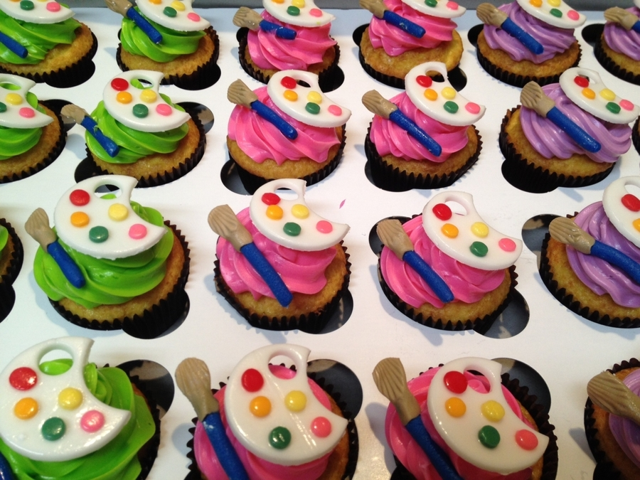 Paint Pallette Cupcakes  on Cake Central