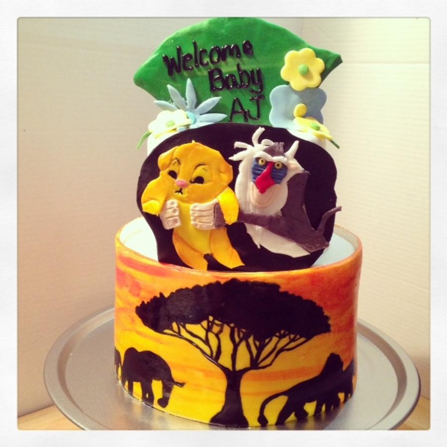 Baby Lion King Cake