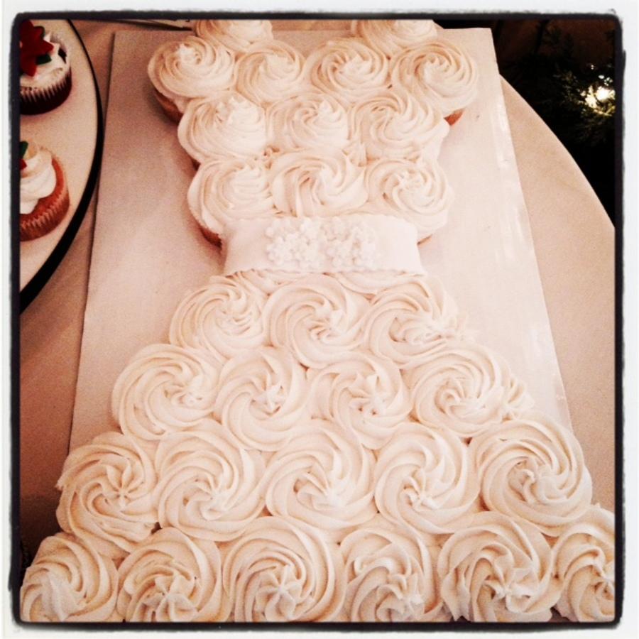 bridal shower cupcake cake on cake central