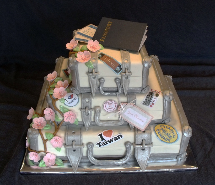 Asian Travel Themed Wedding Cake on Cake Central