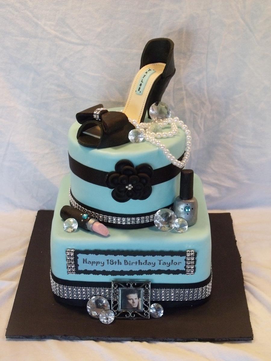 Tiffany Blue Glam Cake Cakecentral Com