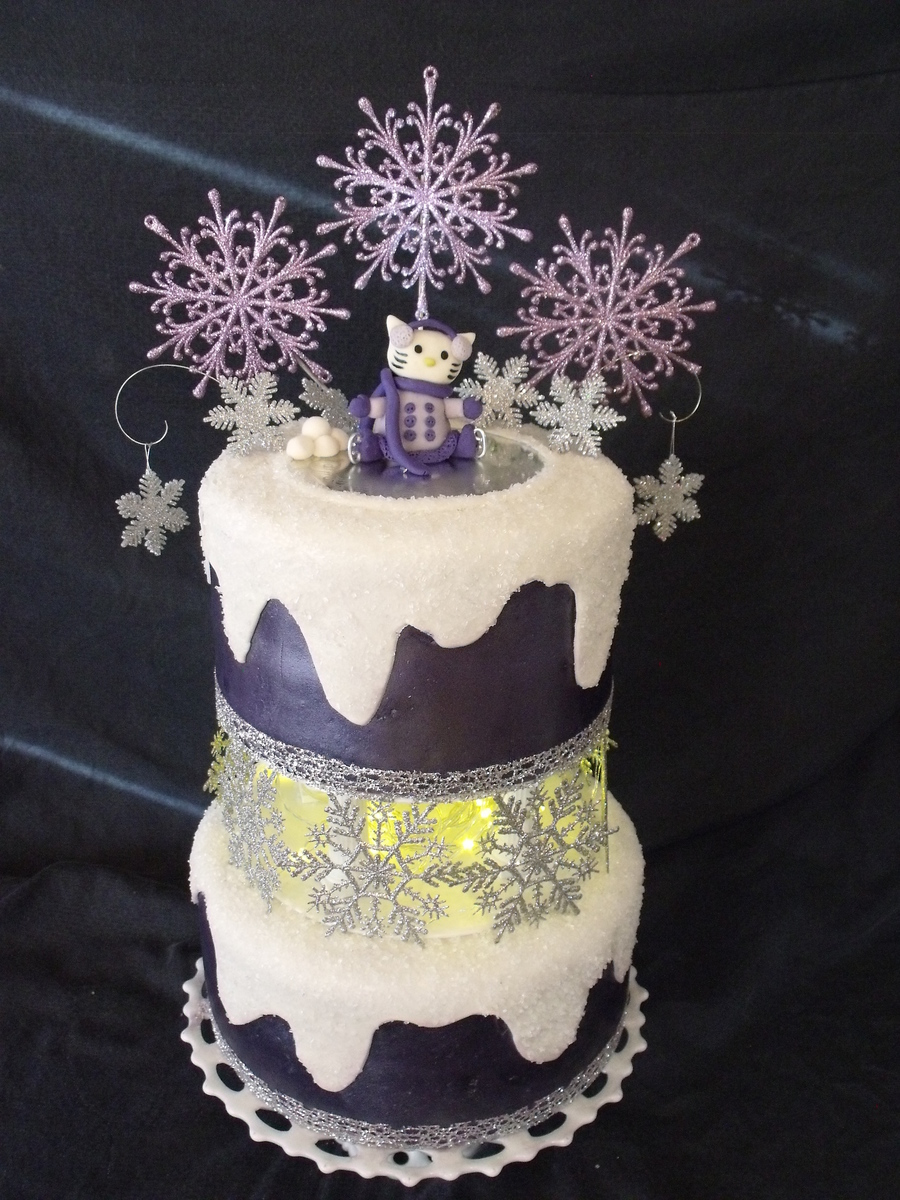 Hello Kitty Winter Princess  on Cake Central