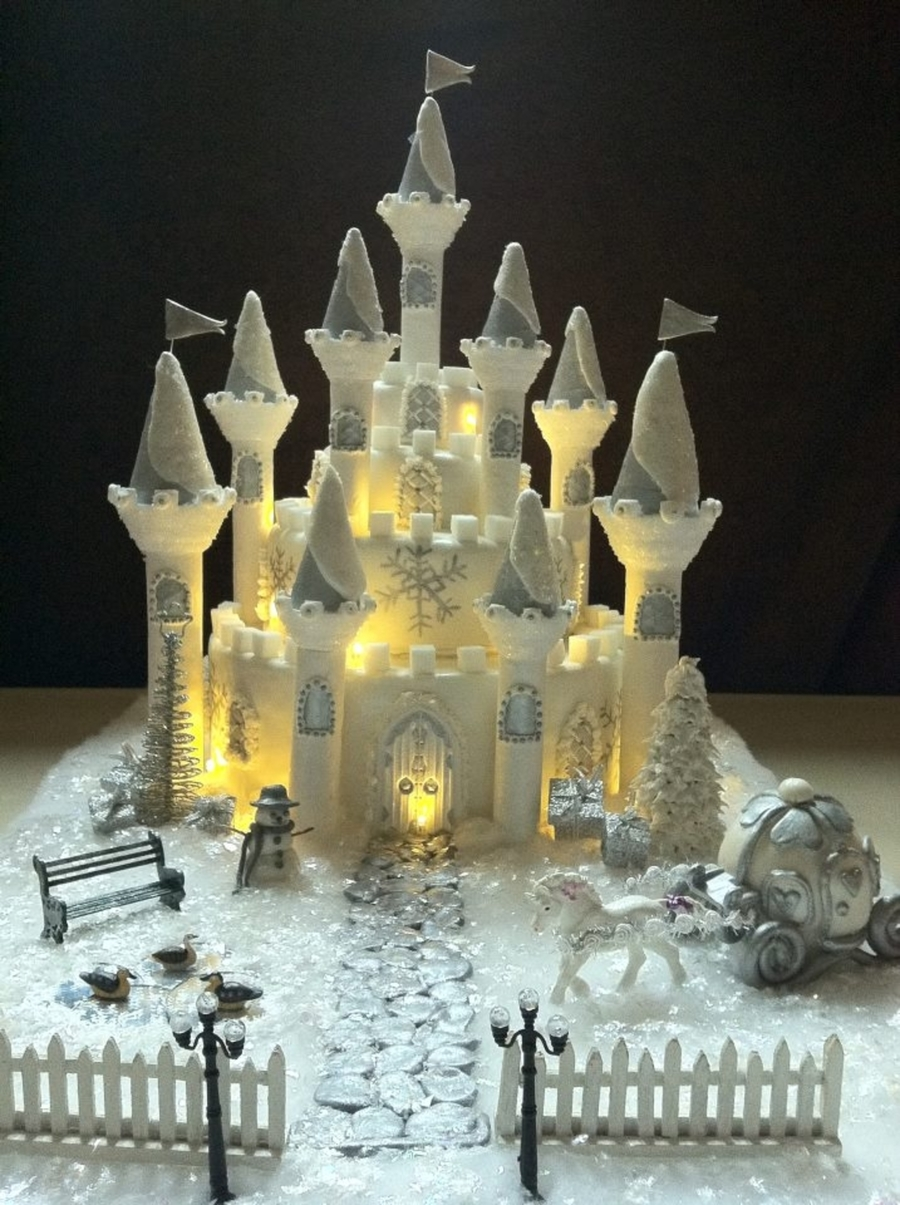 Winter Wonderland Princess Castle Cakecentral Com