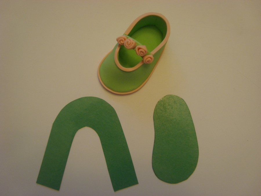 Baby Shoes Template on Cake Central