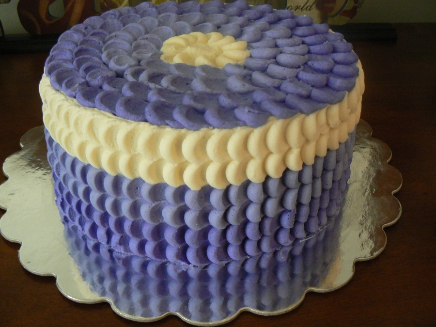 Purple Buttercream Petal on Cake Central