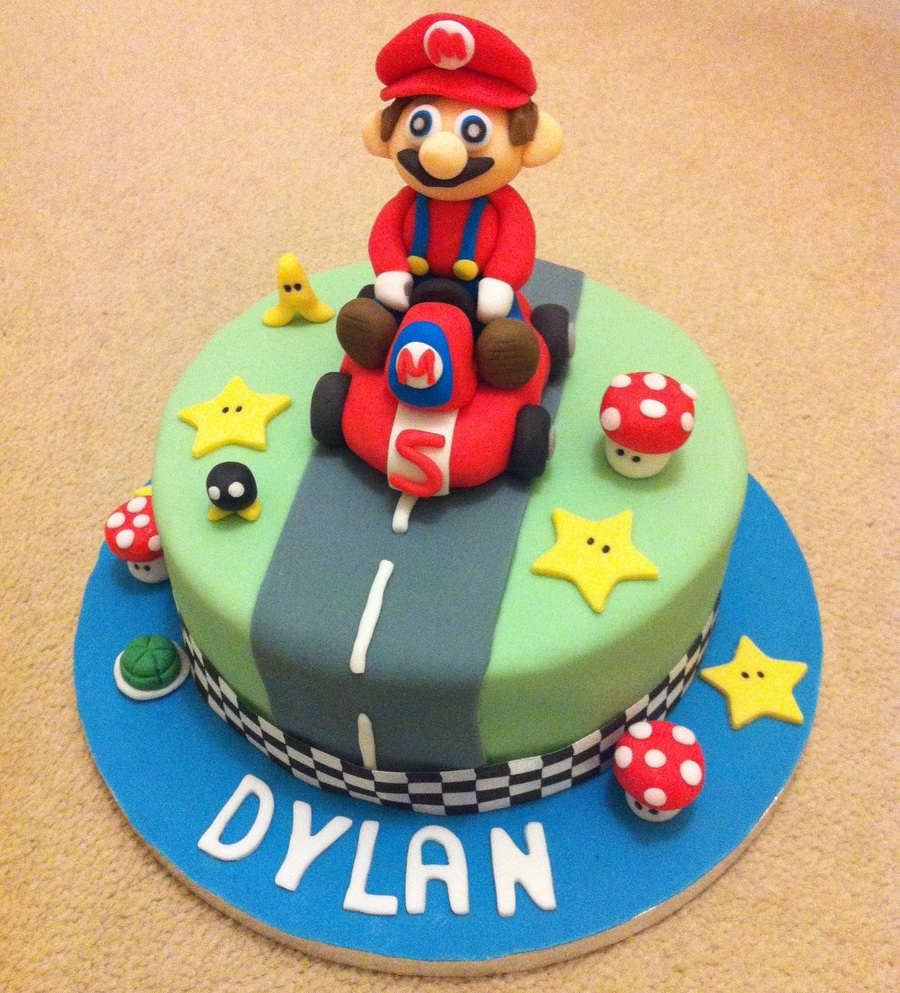 Remarkable Mario Kart Birthday Cake Cakecentral Com Personalised Birthday Cards Sponlily Jamesorg
