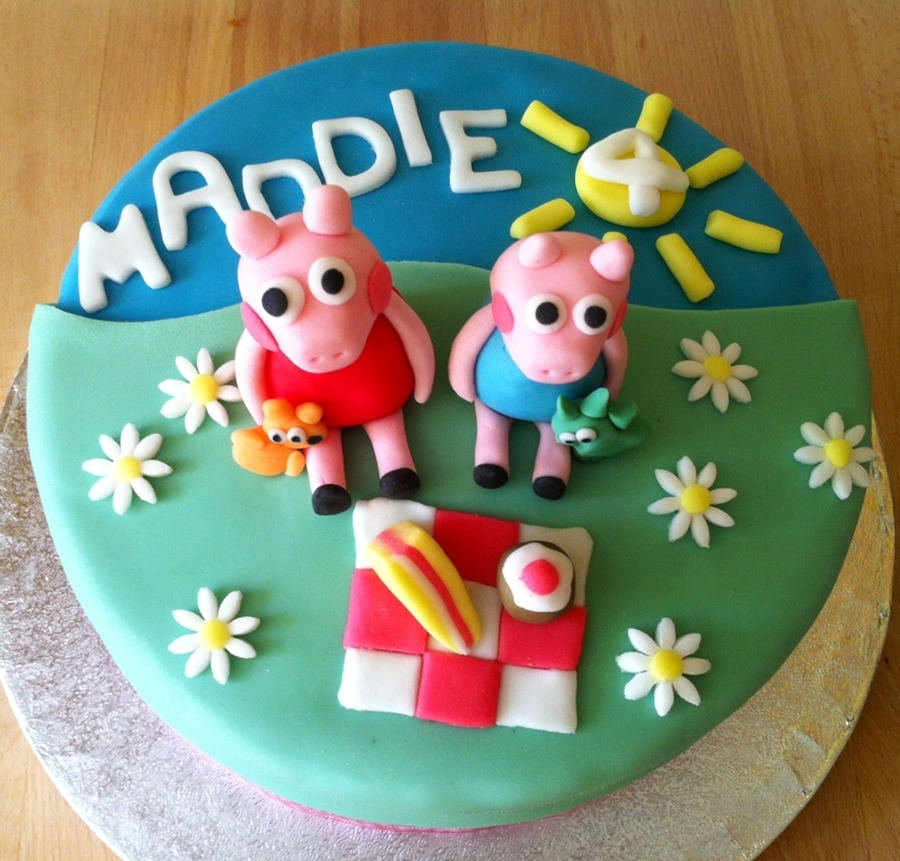 Peppa Pig Picnic Cake  on Cake Central
