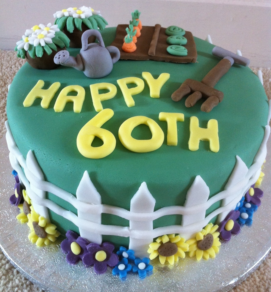 60Th Birthday Gardening Cake  on Cake Central
