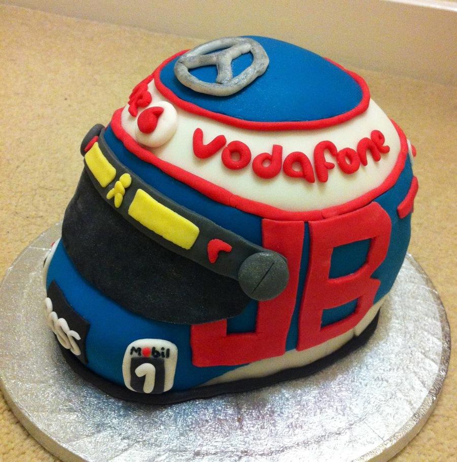 Formula 1 Helmet Cake, Jenson Button 2013