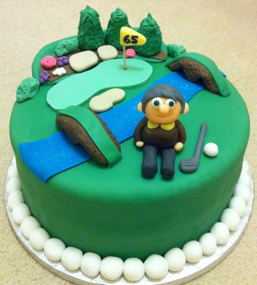 Augusta Golf Cake, 12Th Hole Golden Bell on Cake Central
