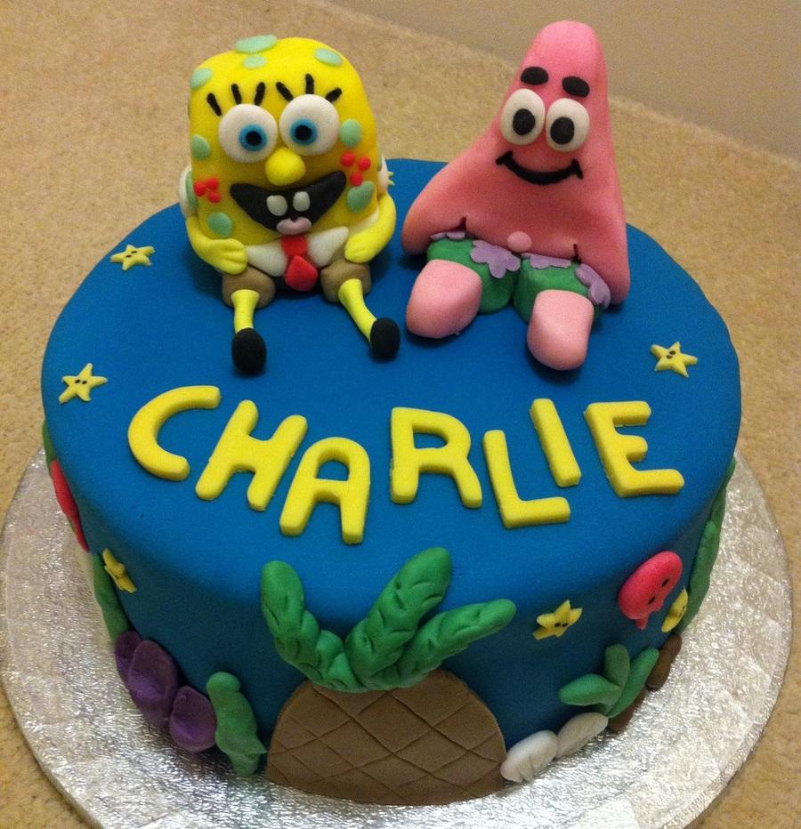 Spongebob Squarepants And Patrick Birthday Cake CakeCentralcom
