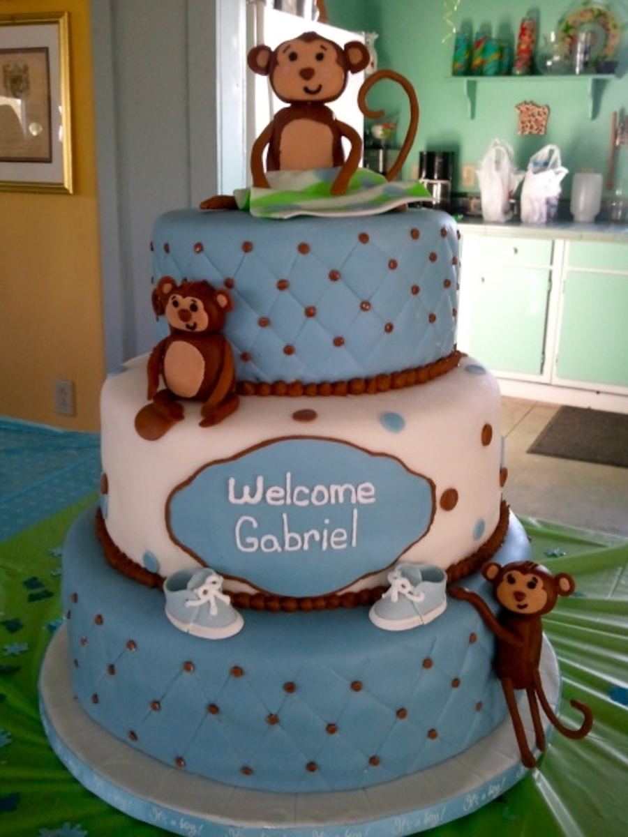 Monkey Boy Baby Shower Cake Cakecentral