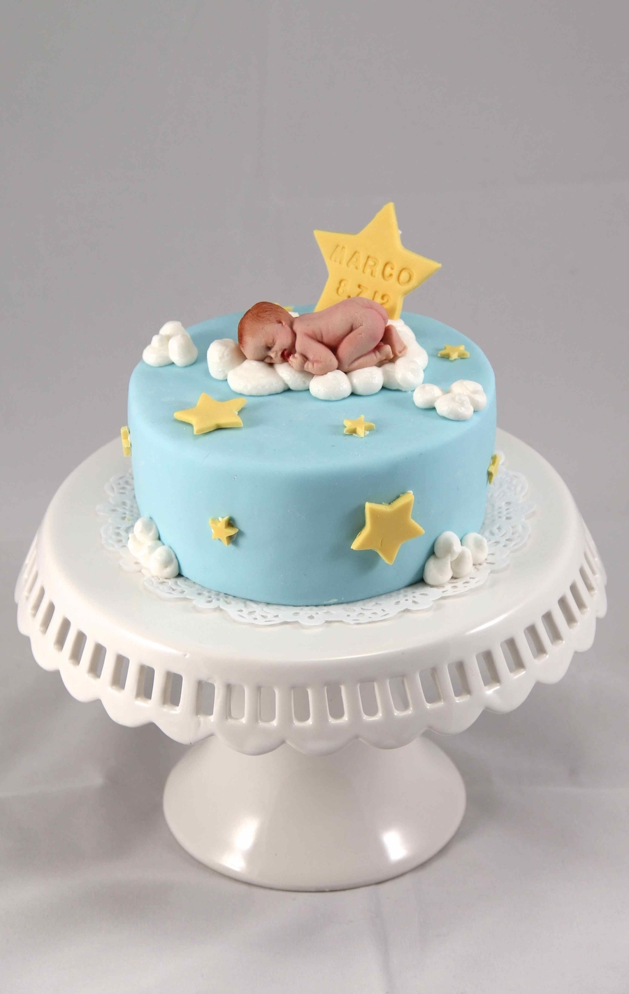 Baby On Cloud For One Month Celebration on Cake Central