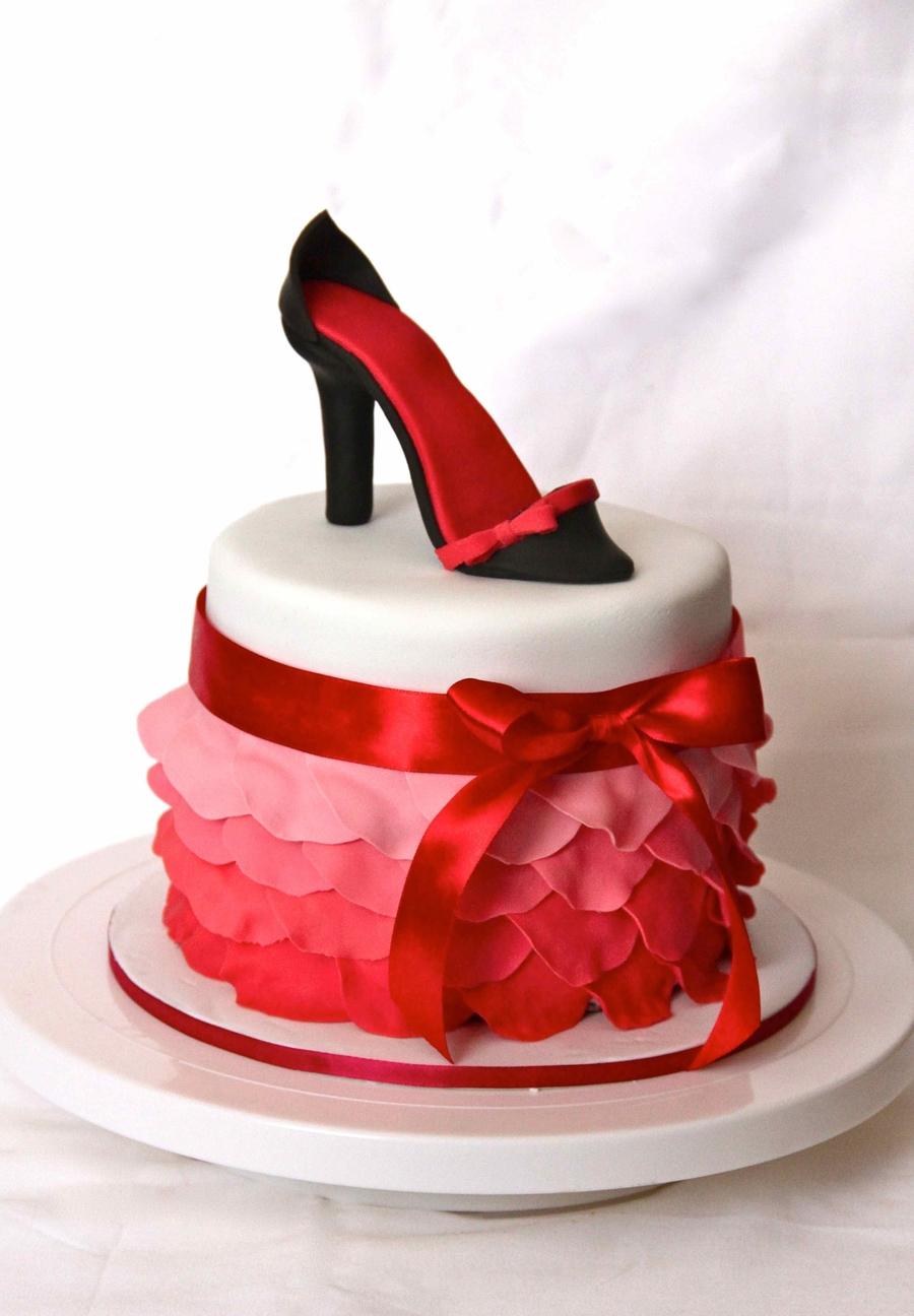 Fondant Shoe Cake Decoration