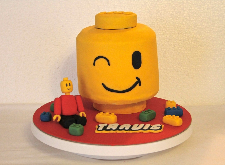 Lego Head Cake on Cake Central