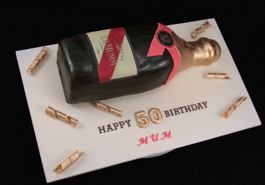 Mumm Champagne Cake on Cake Central