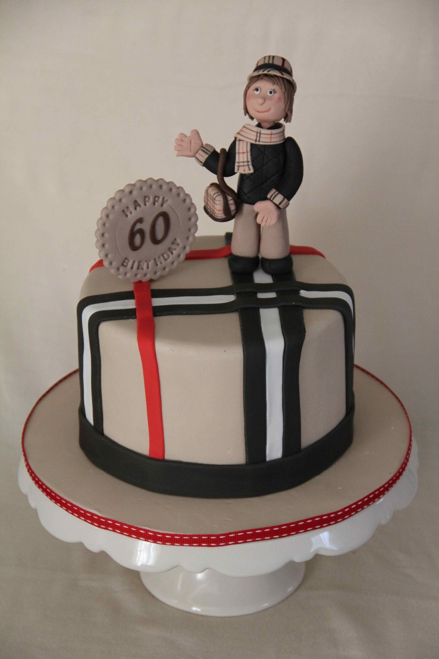 Burberry Cake For 60Th Birthday on Cake Central