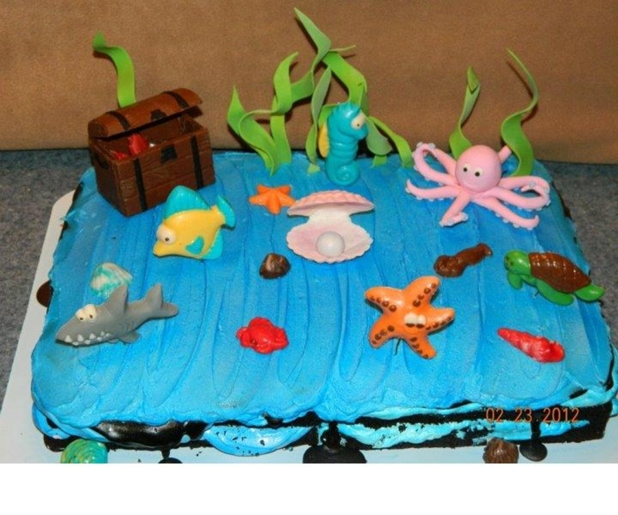 Sea Life Cake  on Cake Central