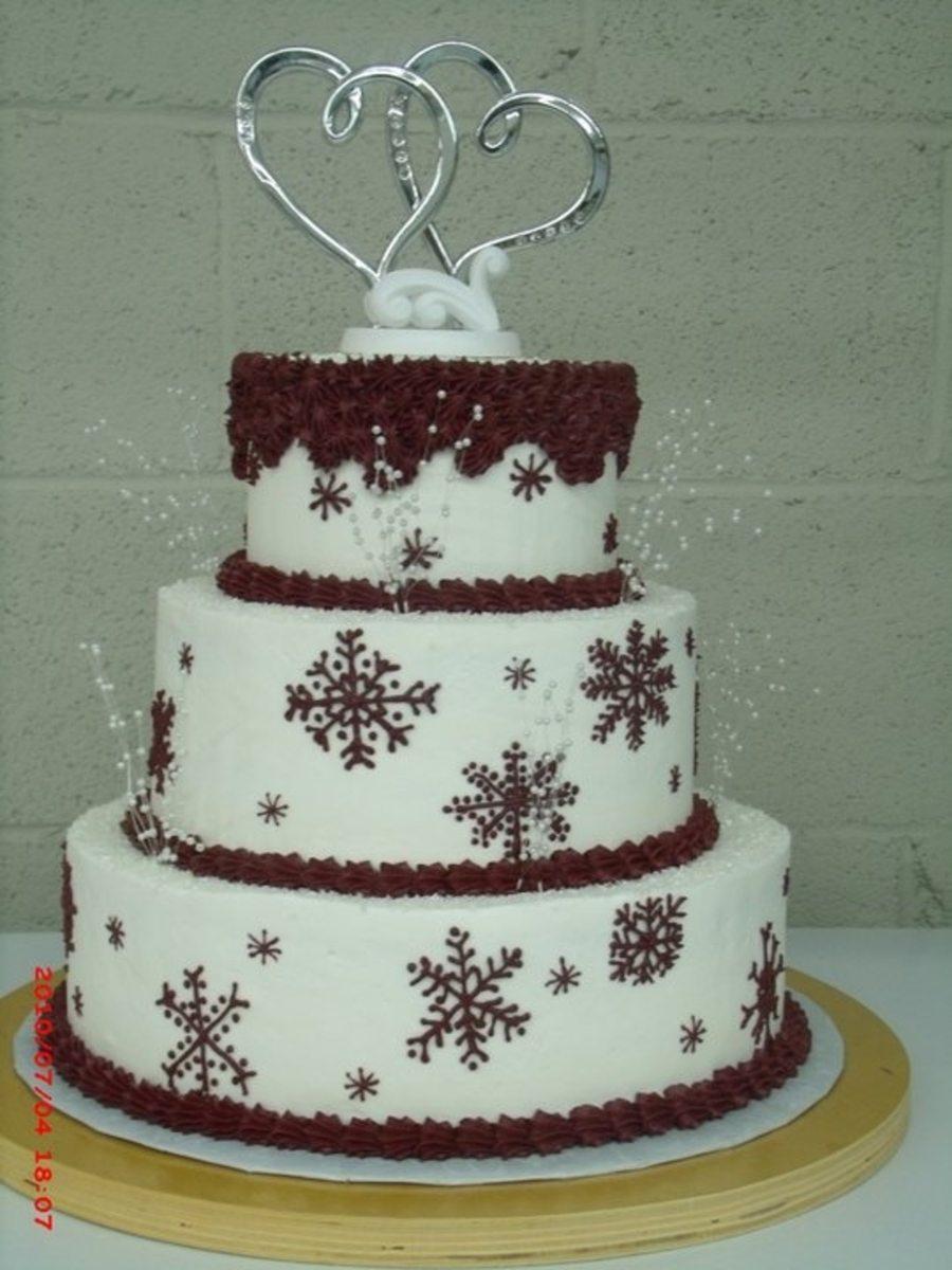 christmas themed wedding cakes wedding cakes cakecentral 12829