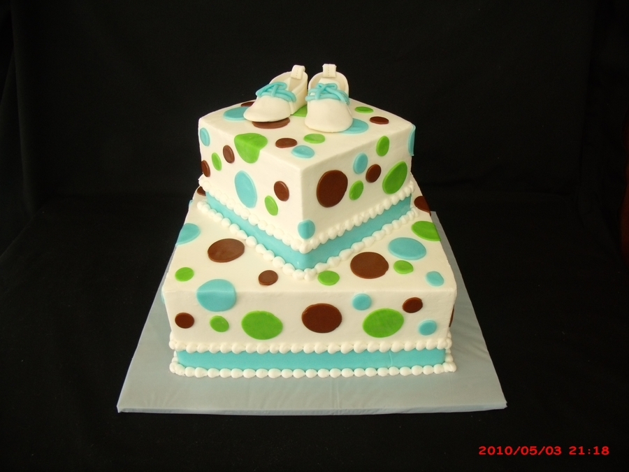 Square Cake With Polka Dots on Cake Central