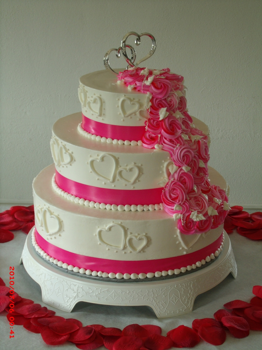 Rosette Wedding Cake. on Cake Central