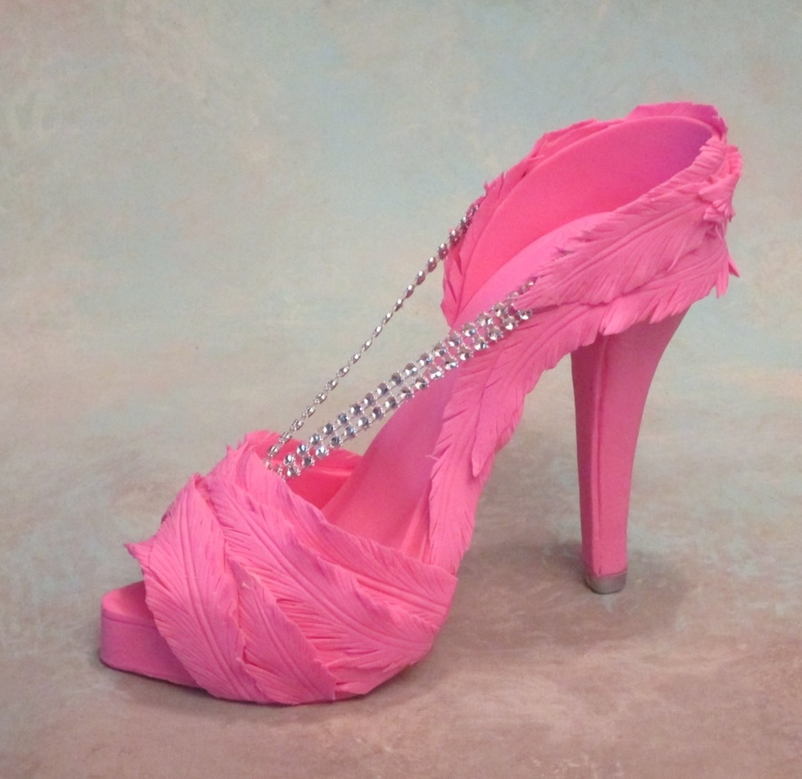 Fondantgum Paste High Heel Shoe on Cake Central