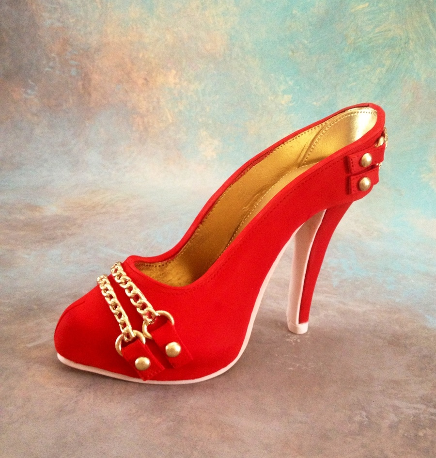Cake Topper High Heel Shoe
