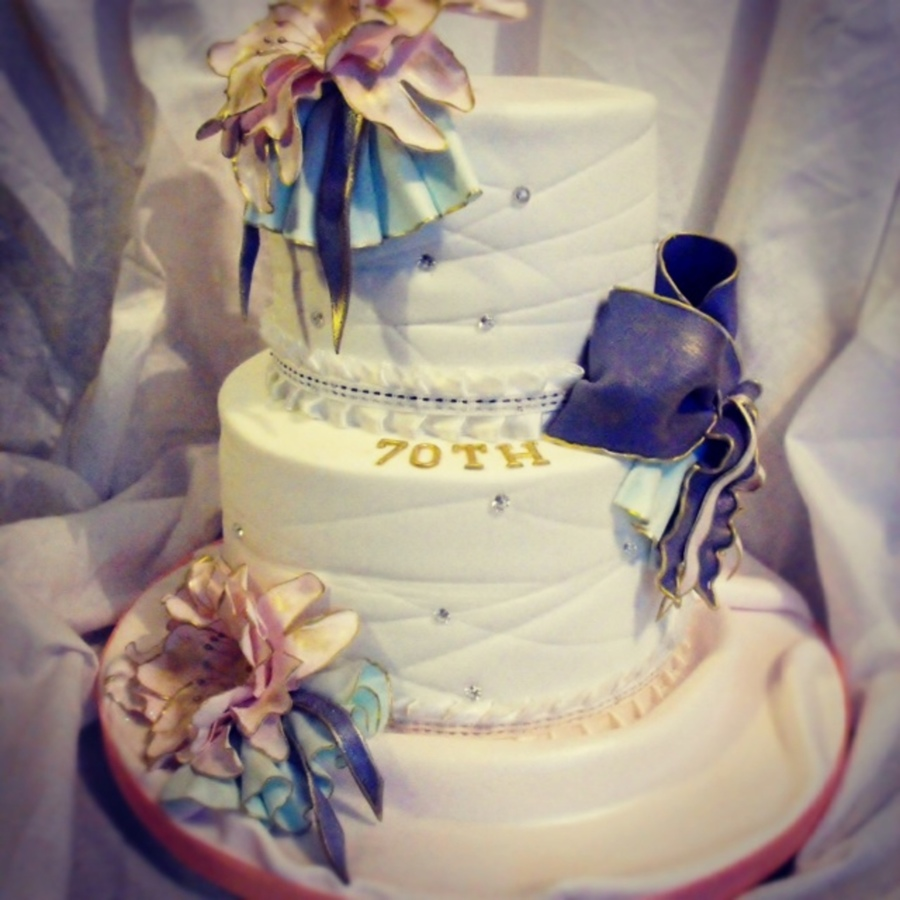 Ladies 80th Birthday Cake Cakecentral