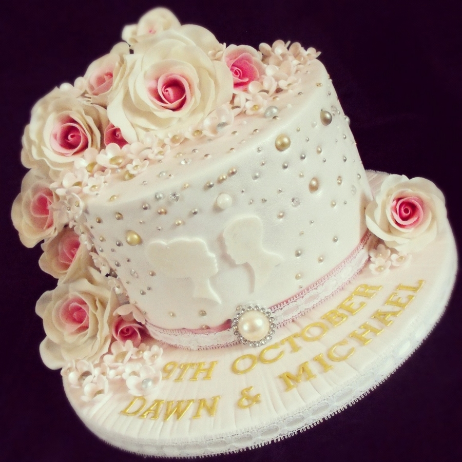 Roses Anniversary Cake on Cake Central