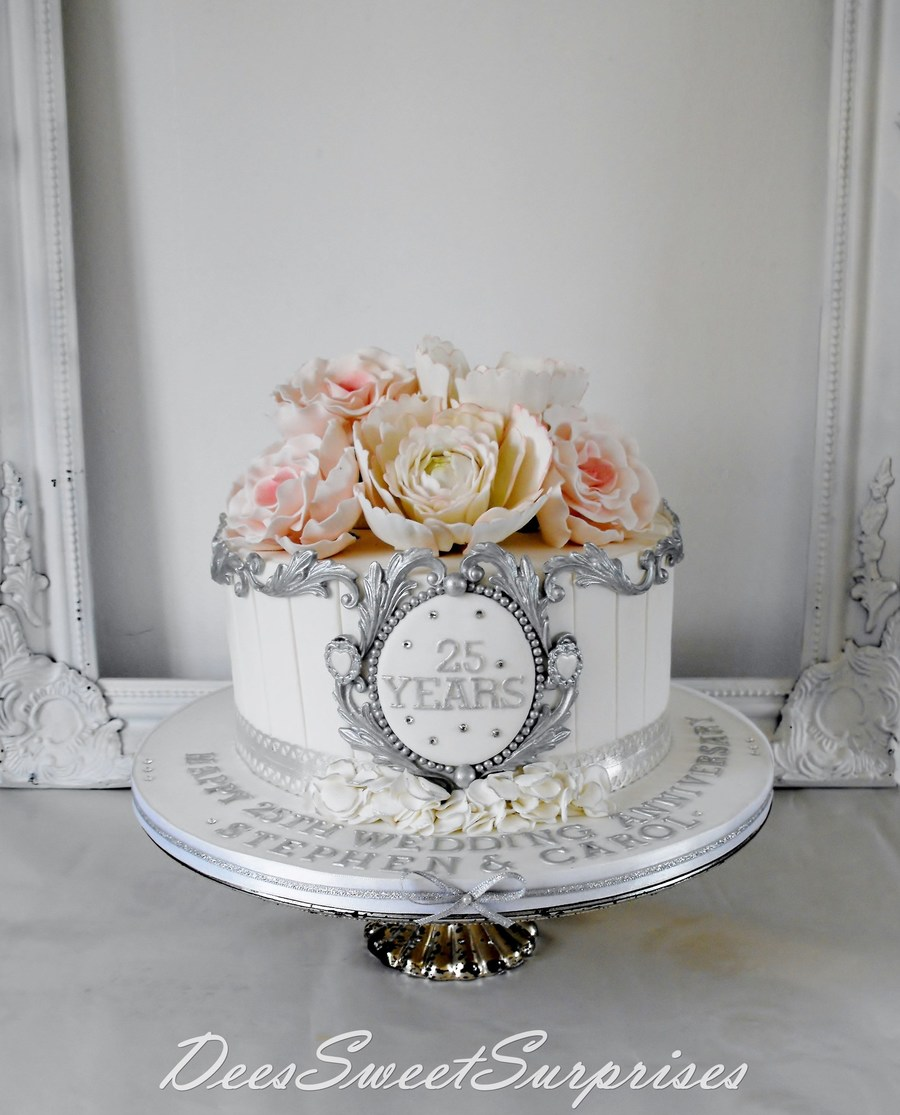 silver wedding anniversary cake. Black Bedroom Furniture Sets. Home Design Ideas