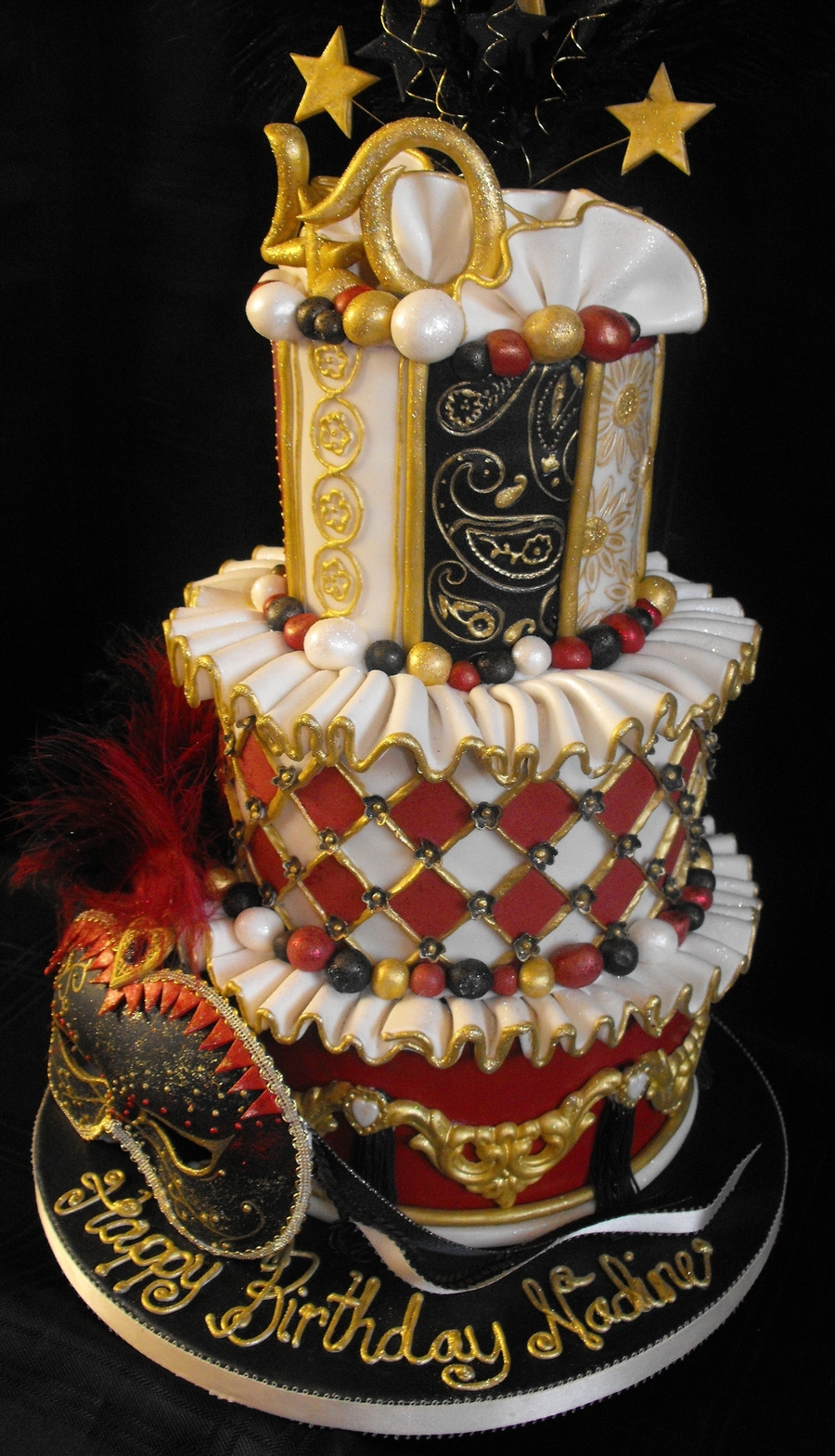 Mardi Gras Sweet  Birthday Cakes