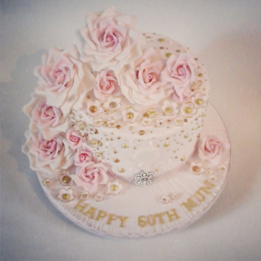 Vintage Rose Birthday Cake Cakecentral