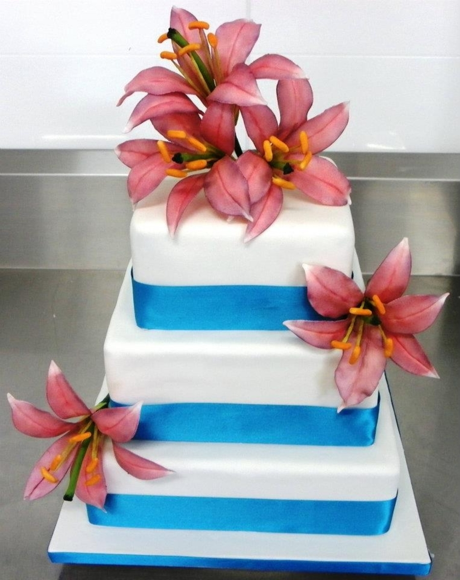 Lily Wedding Cake on Cake Central