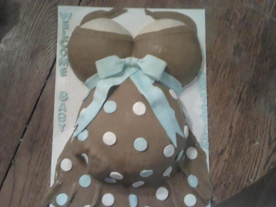 Pregnant Belly Cake For A Baby Shower on Cake Central