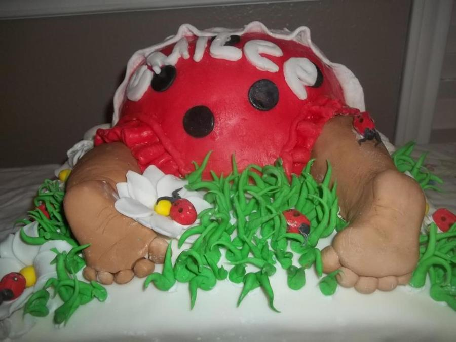 Baby Butt And Ladybugs on Cake Central