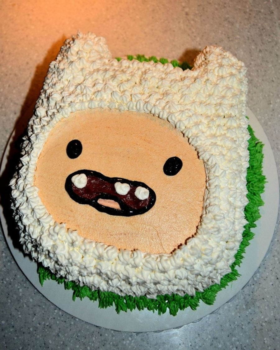 Adventure time finn cake for Decoration layer cake