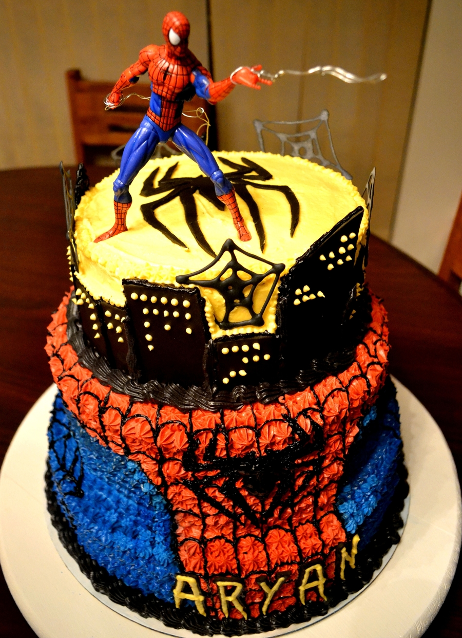 Chocolate Spider Webs For Cakes