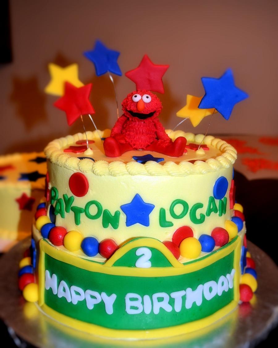 Elmo Borthday Cake For Twins