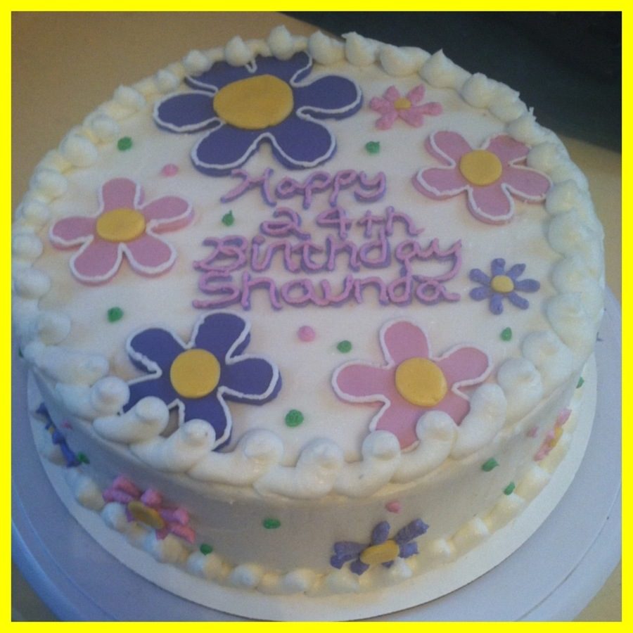 Flower Power Birthday Cake on Cake Central